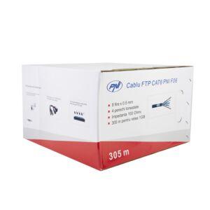FTP-kaabel CAT6 PNI F06 koos 4 paariga interneti jaoks 1 Gigabiti ja valvesüsteemide jaoks Rola 305m
