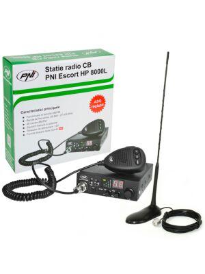 CB PNI ESCORT HP 8000L ASQ raadiojaamakomplekt + CB PNI Extra 45 antenn koos magnetiga