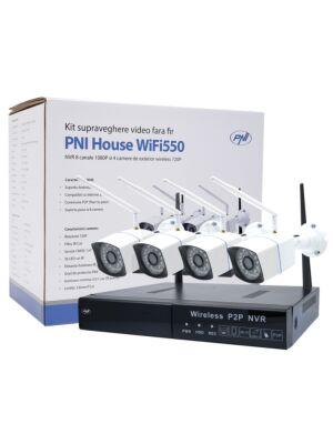 PNI maja WiFi550 NVR videovalve komplekt ja 4 juhtmeta kaamerat, 1.0MP